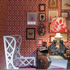 eclectic home office by Maureen Stevens