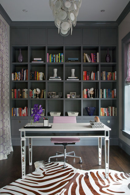 Transitional Home Office Eclectic Home Office