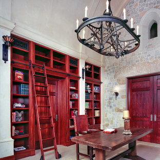 Eclectic freestanding desk home office photo in Austin