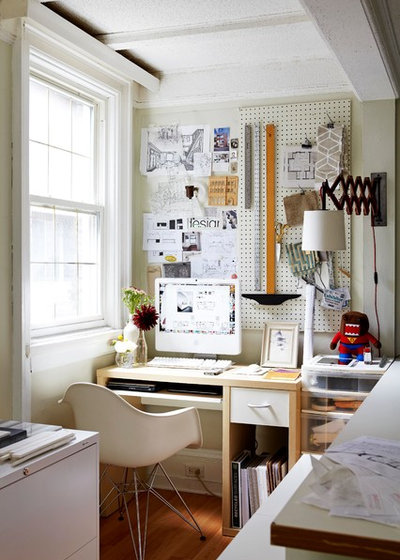 Eclectic Home Office & Library by Valerie Wilcox: Photographer