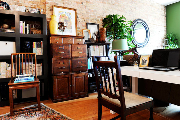 Eclectic Home Office by SuzAnn Kletzien Design