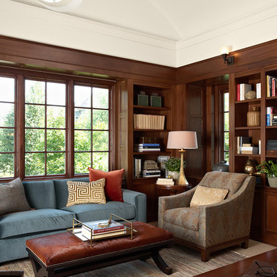 Home office - traditional freestanding desk home office idea in Minneapolis