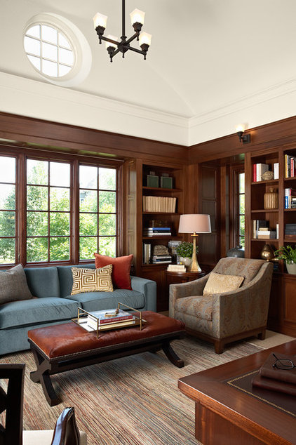 Traditional Home Office by RLH Studio