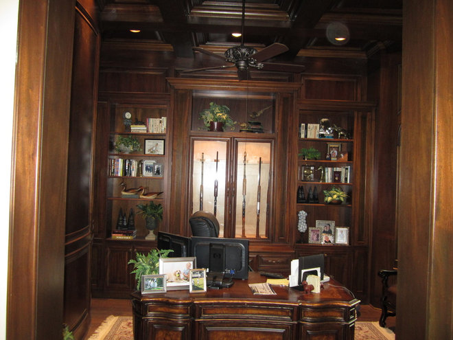 Traditional Home Office by Iron Gate Build and Design Inc.