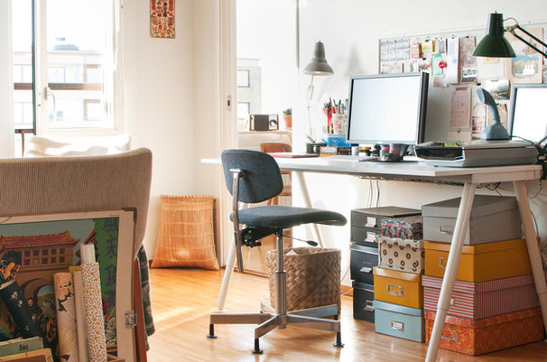 Eclectic Home Office by Hilda Grahnat
