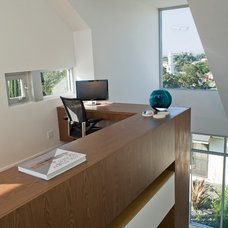 Contemporary Home Office by O plus L