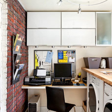 Transitional Home Office by Open Door Architecture