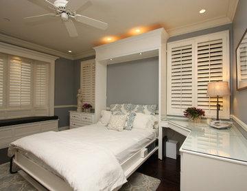 Elegant White Wallbed Room