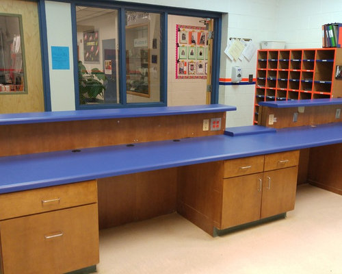 Elementary School Office Counter Tops With Custom Cutout