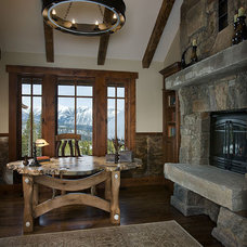 Traditional Home Office by Teton Heritage Builders