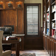 Transitional Home Office by Ellen Grasso & Sons, LLC