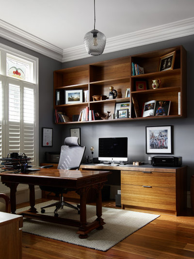 Contemporary Home Office by Rebecca Naughtin Architect