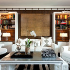 Hollywood Glamour Contemporary Home Office San Diego