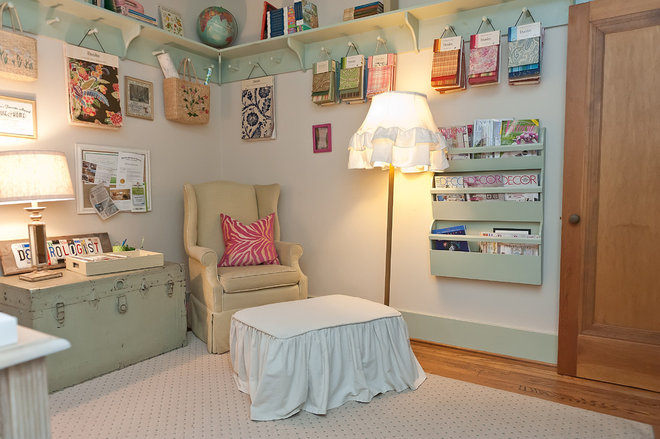 Eclectic Home Office by Kristie Barnett, The Decorologist