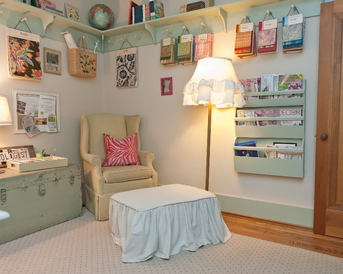 Shabby chic style home office and library design ideas ...