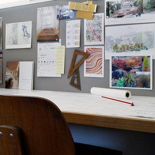 Minimalist home office photo in San Francisco