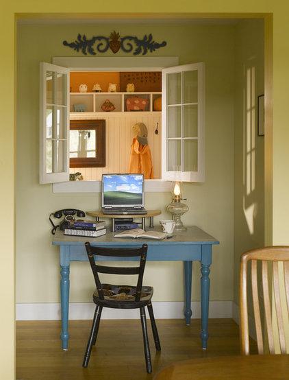 Rustic Home Office by TruexCullins Architecture + Interior Design