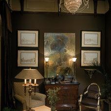 Mediterranean Home Office by Susie Johnson Interior Design, Inc.