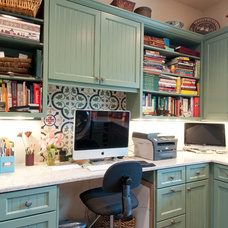 Mediterranean Home Office by Butterfield Custom Homes