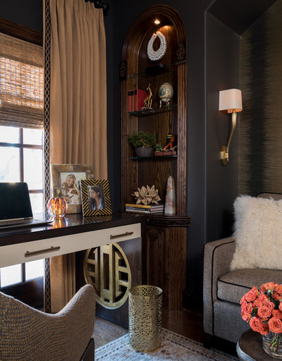 Eclectic Home Office by Dona Rosene Interiors