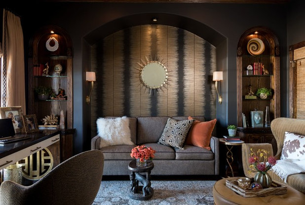 Transitional Home Office by Dona Rosene Interiors