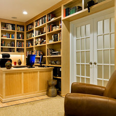 Traditional Home Office by Charles C Hugo Landscape Design