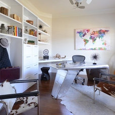 Contemporary Home Office by Contour Interior Design, LLC