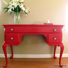 Eclectic Home Office Exotic red
