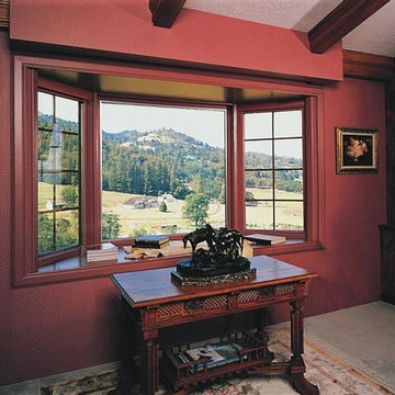 Expand your space with Pella® Designer Series® wood bay/bow windows