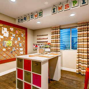 Example of a classic craft room design in Denver