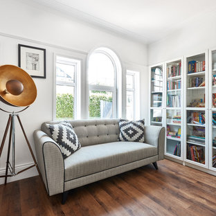 Inspiration for a modern home office and library in Cardiff.