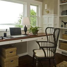 Beach Style Home Office by Taste Design Inc