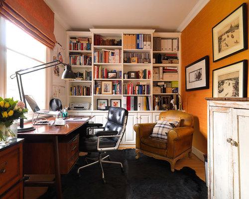 Arbeitszimmer mit oranger wandfarbe ideen design bilder for Arbeitszimmer wandfarbe