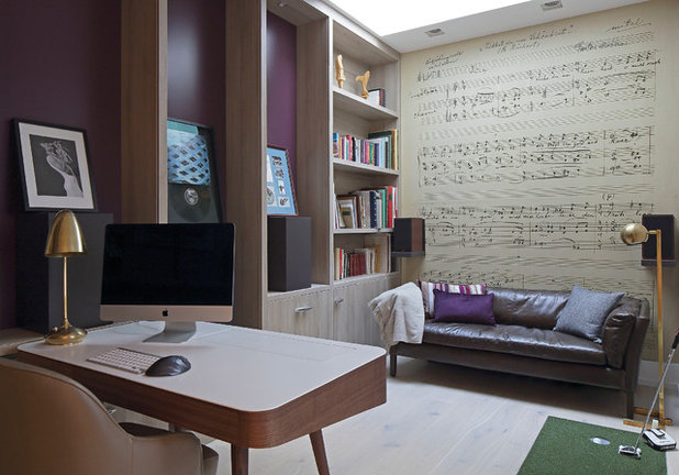 Contemporary Home Office by GALUCHAT