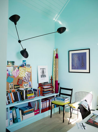 Eclectic Home Office & Library by Anna Standish Interiors