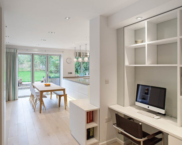 Contemporary Home Office & Library by Sue Murphy Interiors