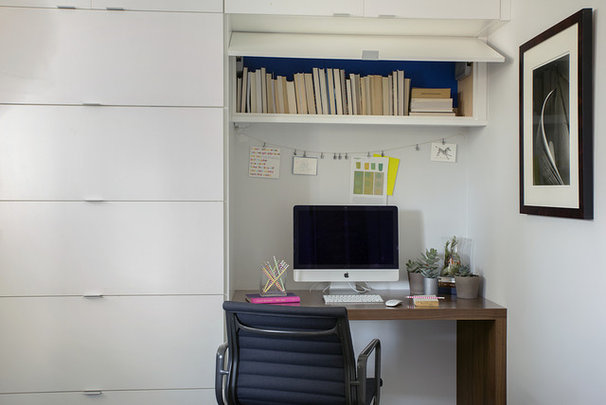 Contemporary Home Office by ZeroEnergy Design