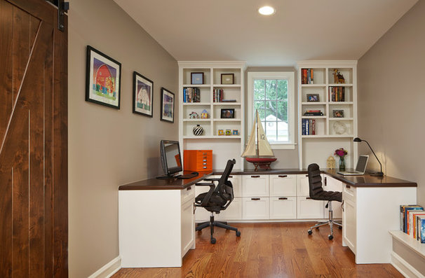 Traditional Home Office by Roberts Construction