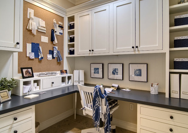 Traditional Home Office by Farinelli Construction, Inc.