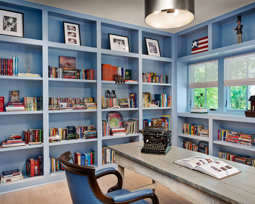 office book shelves. brilliant office example of a country freestanding desk light wood floor home office design  in houston with blue with office book shelves h