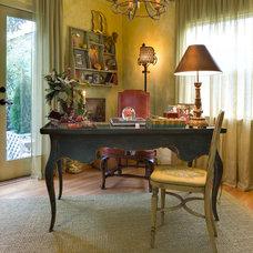 Mediterranean Home Office by McKinney Photography