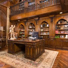 Mediterranean Home Office by Patrick Berrios Designs