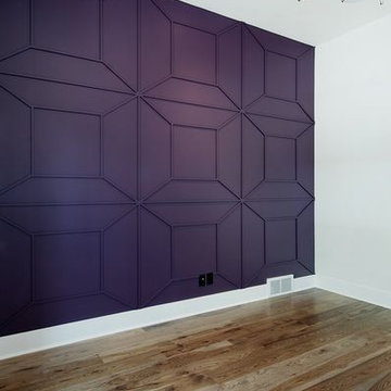 Feature wall in the study