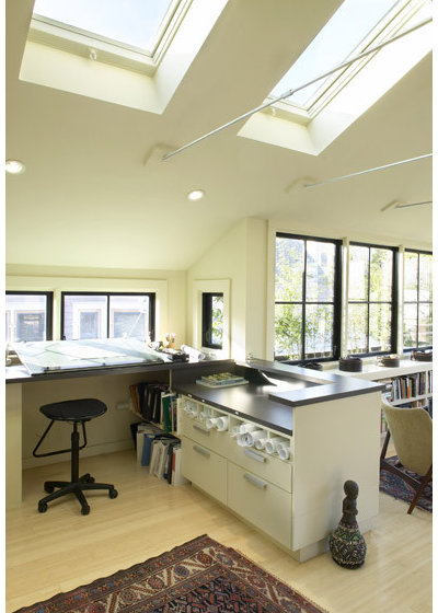 Contemporary Home Office by Feldman Architecture, Inc.