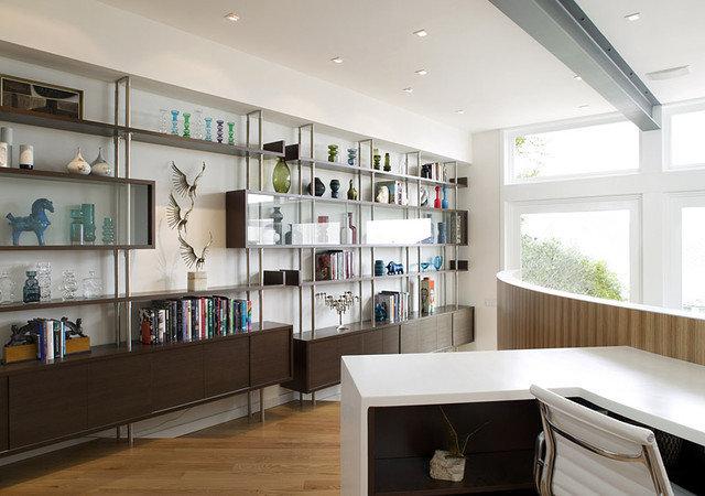 Modern Home Office by Feldman Architecture, Inc.