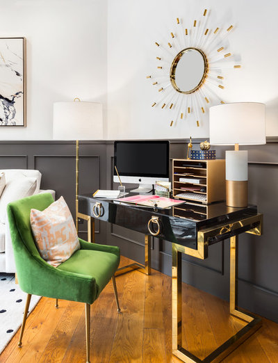 Transitional Home Office by Ponciano Design