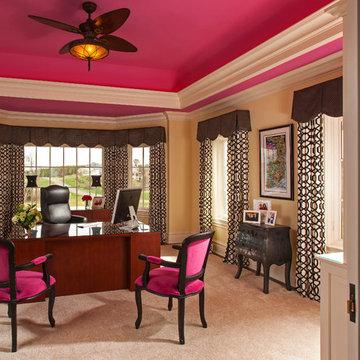 Feminine Home Office Interior Design