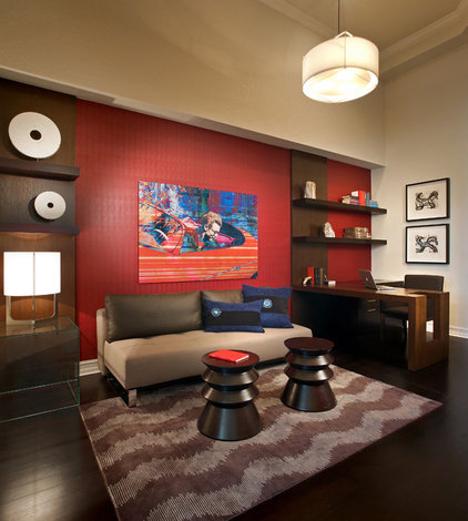 Contemporary Home Office by b+g design inc.