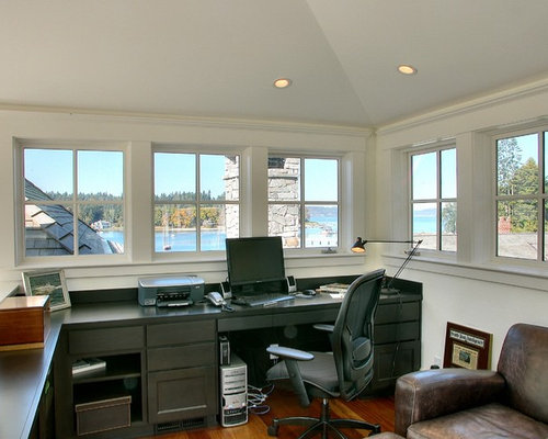 Office above garage home design ideas pictures remodel for Office design houzz