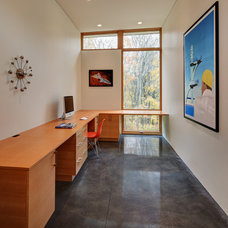 Contemporary Home Office by Bruns Architecture